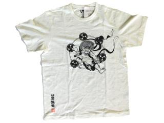 かみなり柄 Tシャツ 黒