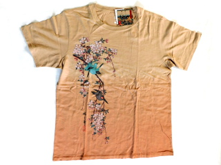 桜の和柄 Tシャツ