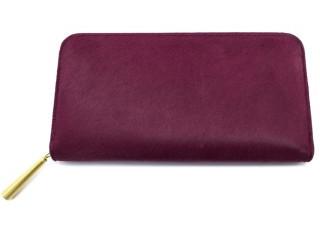 上質な革の長財布 ワインレッド