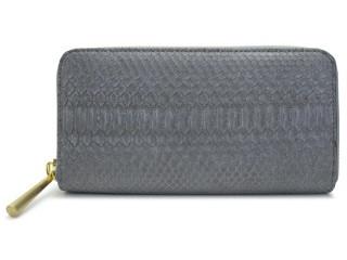 へび革のかわいいグレーの長財布