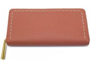 日本製の革、茶の長財布
