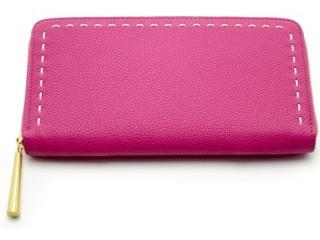 定番の革製、長財布 ピンク