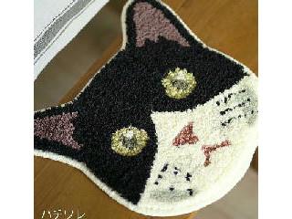 猫の顔マット ハチワレ