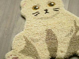 猫型マット ブラウン